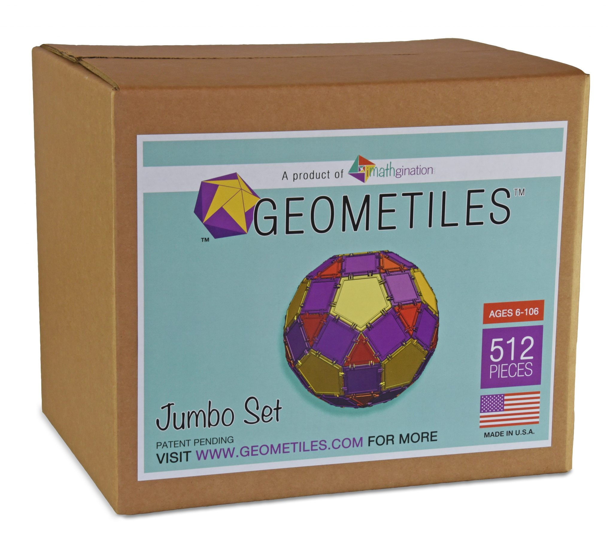 box of the jumbo 512 piece set