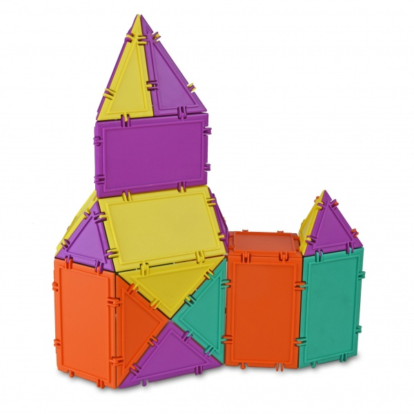 castle constructed with geometiles