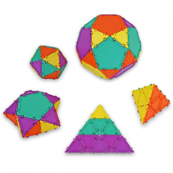 geometiles spheres, pyramids, and star