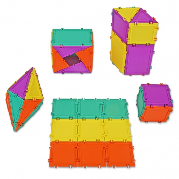 geometiles cube and tower constructions