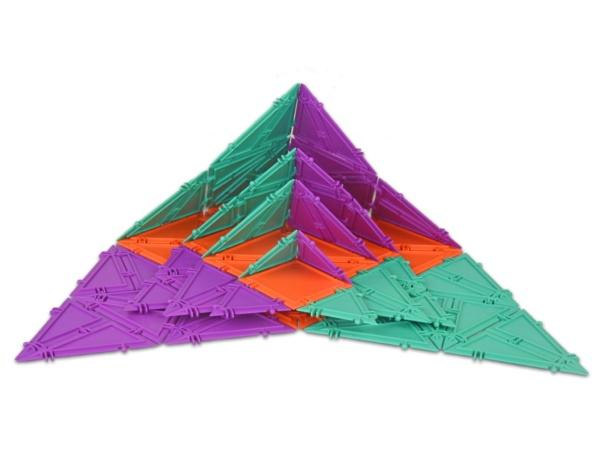 geometiles pyramids opened up