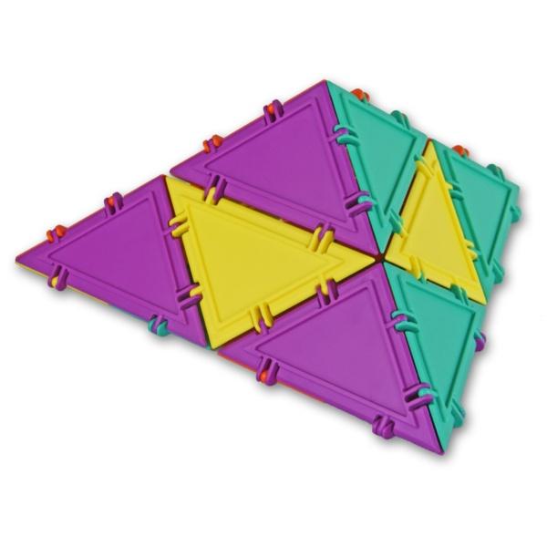 tetrahedron built with mini set 3