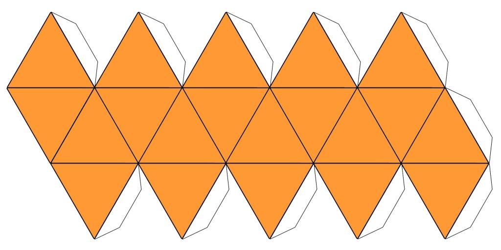 icoshahedron net